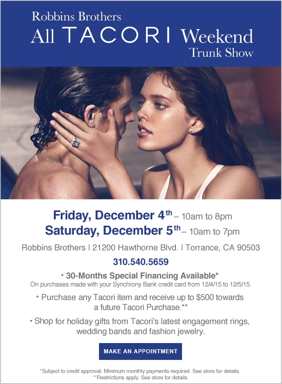 All TACORI Weekend Trunk Show