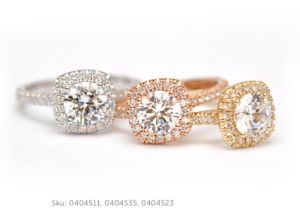 sun and roses engagement ring