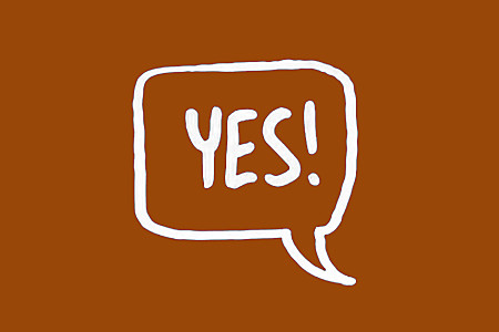 say yes image