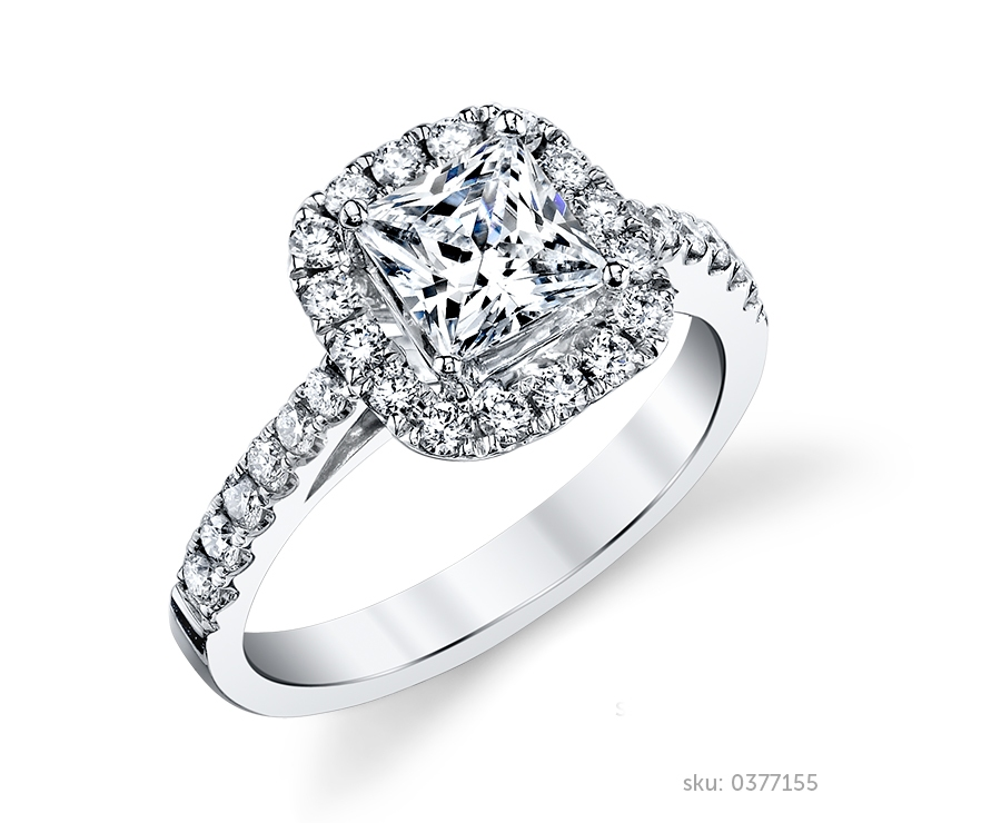 halo ring - Halo Wedding Rings