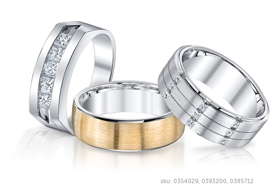 Mens Wedding Bands And Diamond Rings In Platinum White Gold Titanium Or Other Metals