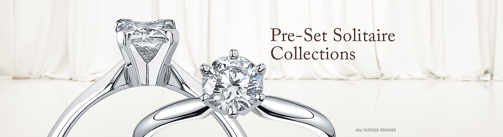 Pre-Set Solitaire Engagement Rings
