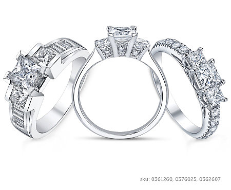 Princess Cut Engagement Rings | Robbins Brothers