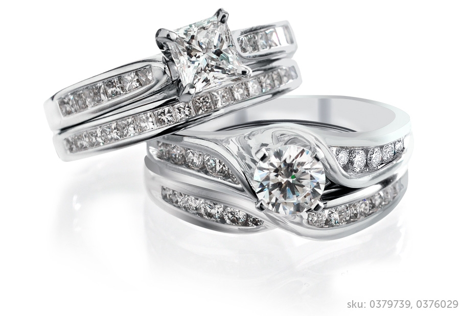 wedding ring - Engagement And Wedding Ring Set