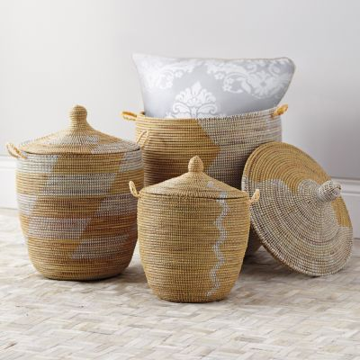 A week ago I spotted a collection of lidded storage baskets in the bathroom section of the store I suppose being marketed as laundry h&ers. & Lidded Storage Baskets | Easy Clutter Cure - The Chronicles of Home