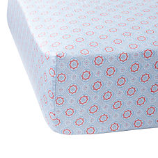 Mosaic Crib Sheet– Aqua/Melon