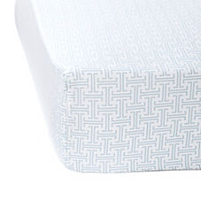 Trellis Crib Sheet– Aqua