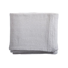 Brahams Mount Herringbone Bed Blanket – Oyster