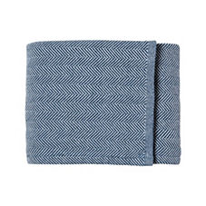 Brahams Mount Herringbone Bed Blanket – Indigo