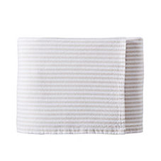 Brahms Mount Woven Stripe Bed Blanket – Stone