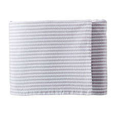 Brahms Mount Woven Stripe Bed Blanket – Dove Grey