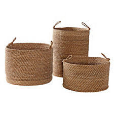Laguna Seagrass Baskets – Set of 3