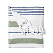 Fouta Beach Towel – Kelly Green/Navy