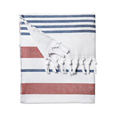 Fouta Beach Towel – Tomato/Navy
