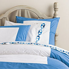 Ultramarine Color Frame Duvet & Shams