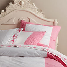 Color Frame Duvet Cover & Shams – Pink