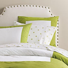 Lime Color Frame Duvet & Shams