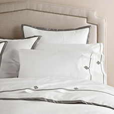 Border Frame Duvet Cover & Shams – Pewter