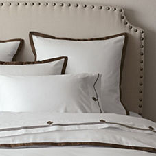 Chocolate Border Frame Duvet & Shams