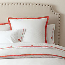Border Frame Duvet Cover & Shams – Coral