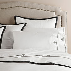 Border Frame Duvet Cover & Shams – Black