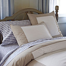 Light Bark Color Frame Duvet & Shams