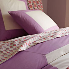 Lilac Color Frame Duvet & Shams