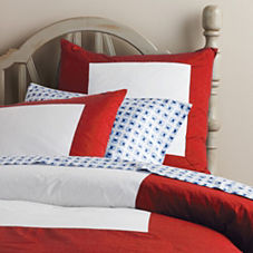 Color Frame Duvet & Shams – Red