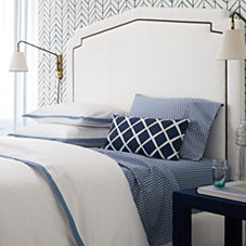 Border Frame Duvet Cover & Shams – Chambray