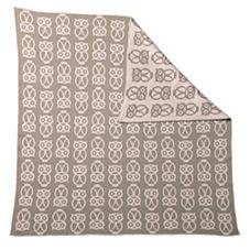 Owl Baby Blanket – Shell/Mocha