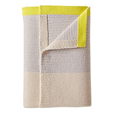 Sweater Knit Baby Blanket - Fog/Citron