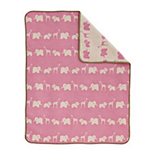Safari Blanket - Pink/Natural