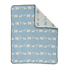 Safari Blanket - Blue/Natural