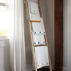 Whitewashed Teak Ladder