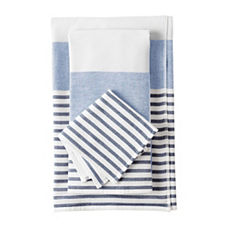 Fouta Bath Towels – Navy/Chambray