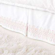 Swirl Appliqué Bedskirt – Shell