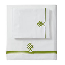 Gobi Embroidered Sheet Set – Grass