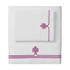Gobi Embroidered Sheet Set – Berry