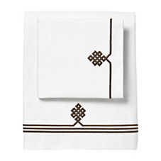 Chocolate Gobi Embroidered Sheet Set