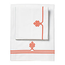 Gobi Embroidered Sheet Set – Coral