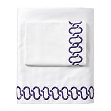 Royal Purple Savoy Links Embroidered Sheet Set