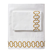 Ochre Savoy Links Embroidered Sheet Set