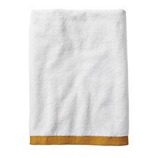 Border Frame Bath Towel – Mustard