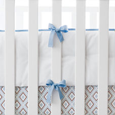 Nursery Basics Crib Bumper – Chambray