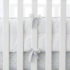 White Basics Crib Bumper