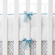 Nursery Basics Crib Bumper – Aqua