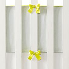 Banded Linen Bumper – Aqua/Citron