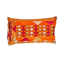 Vintage Phulkari Pillow