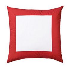 Color Frame Euro Sham – Red