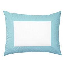 Color Frame Standard Sham – Aqua